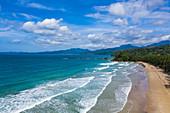 Luftaufnahme des Strand Sheridan Beach, Cabayugan, Puerto Princesa, Puerto Princesa, Philippinen, Asien