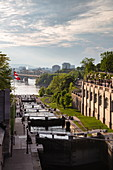 View of the Rideau Locks on the Rideau Canal, Ottawa, Ontario, Canada, North America