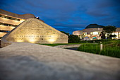 Exterior view of the Canadian Museum of History at dusk, Ottawa, Ontario, Canada, North America