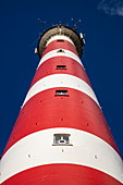 View up to the lighthouse of Ameland, near Hollum, Ameland, West Frisian Islands, Friesland, Netherlands, Europe