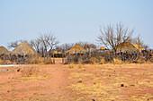 Angola; im westlichen Teil der Provinz Cunene; typisches Dorf der Mucohona; kleine Volksgruppe im Südwesten von Angola