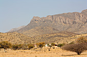 Angola; southern part of Namibe Province; Iona; a small village with a police station and shop