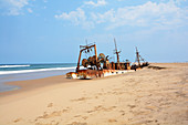 Angola; in the southern part of Namibe Province; northern part of the Namib Desert; Atlantic coast; Wreck of a stranded ship