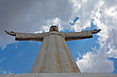 Angola; Huila Province; Lubango; Lookout point on the outskirts with the monumental statue of Christo Rei; taken in extreme soffit