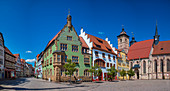 Town hall and town church St. Georg am Altmarkt in Schmalkalden, Thuringia, Germany