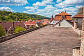 Große Pfalz am Schloss Wilhelmsburg in Schmalkalden, Thüringen, Deutschland
