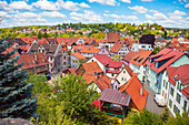 View of the old town from Wilhelmsburg Castle in Schmalkalden, Thuringia, Germany