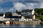 Hafen auf der Insel Vega, Norwegen