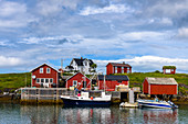 Wooden house village Nes on Vega island, Norway