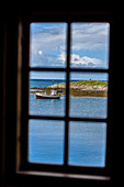 View from wooden house, Nes, Vega island, Norway