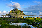 View of Söla Island from Vega Island, Norway