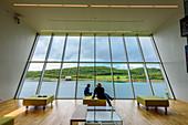 Blick aus dem Petter-Dass-Museum, Alstahaug, Norwegen