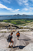 Hike to the top of Skjerdingen, 'The Seven Sisters' seven peaks near Sandnessjöen, Norway