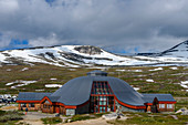 Saltfjell with the center of the Arctic Circle on the E6 road, Norway