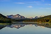 View of the Brennvikvatnet lake on Hamarøy, Norway