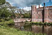 Herstmonceux Castle, Hailsham, East Sussex, England, Vereinigtes Königreich