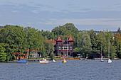 West bank of Lake Starnberg near Starnberg, 5-Seen-Land, Upper Bavaria, Bavaria, Germany