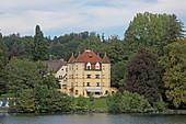 Schloss Garatshausen der Familie Thurn und Taxis, Feldafing, Starnberger See, 5-Seen-Land, Oberbayern, Bayern, Deutschland