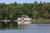Teahouse by Wilhelmina Busch in Bernrieder Park, Bernried, Starnberger See, 5-Seen-Land, Upper Bavaria, Bavaria, Germany