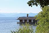 Bootshaus, Feldafing, Starnberger See, 5-Seen-Land, Oberbayern, Bayern, Deutschland