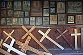 Votive tablets in the Gnadenkapelle, Kapellplatz, Altötting, Upper Bavaria, Bavaria, Germany