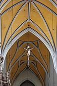Innenraum der Jakobskirche, Wasserburg, Innviertel, Oberbayern, Bayern, Deutschland