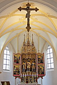 Altar der Jakobskirche, Rabenden bei Altenmarkt, Chiemgau, Oberbayern, Bayern, Deutschland