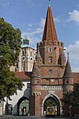 Kreuztor, teil der Stadtbefestigung von Ingolstadt, Bayern, Deutschland