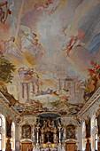 Interior view of the Asamkirche Santa Maria de Victoria, Ingolstadt, Upper Bavaria, Bavaria, Germany