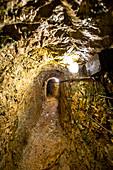 View through tunnel in the Höllentalklamm, Grainau, Upper Bavaria, Germany