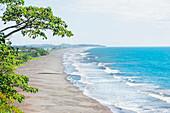 Espadilla beach and coastline, elevated view, Manuel Antonio National Park, Quepos, Costa Rica, Central America