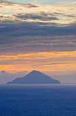 View of Finicudi island from Gran Cratere, Vulcano Island, Aeolian Islands, Sicily, Italy