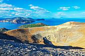 Gran Cratere view, Vulcano Island; Aeolian Islands; Sicily; Italy; Mediterranean; Europe