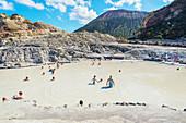 Mud bath, Vulcano Island, Aeolian Islands, Sicily, Italy,