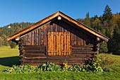 Hut at Geroldsee, Werdenfelser Land, Bavaria, Germany