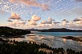 Catseye Beach at low tide, sunset, Hamilton Island, Whitsunday Islands, Queensland, Australia
