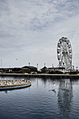 The ferris wheel at the beachfront of Hastings, East Sussex, UK.
