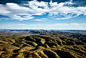 An aerial view of the Ragged Range in the Kimberley region of Western Australia, Australia.