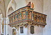 Pulpit of St., Urbanus Church in Dorum, Lower Saxony, Germany