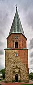 Tower with entrance portal of St. Urbanus Church Dorum, Nieersachsen, Germany