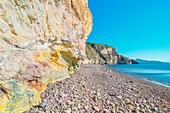Valle Muria beach, Lipari, Aeolian Islands, Sicily, Italy