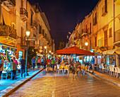 Lipari Town, Lipari Island, Aeolian Islands, Sicily, Italy,