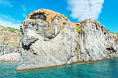 View of Punta Milazzese, Panarea, Aeolian Islands, Sicily, Italy,