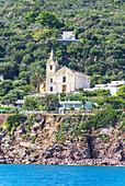 Saint Peter church, Panarea, Aeolian Islands, Sicily, Italy