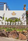 Traditional architecture, Panarea, Aeolian Islands, Sicily, Italy
