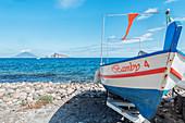 Fishing boat, Panarea, Aeolian Islands, Sicily, Italy