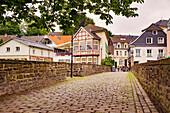 Small bridge in Essen-Kettwig, North Rhine-Westphalia, Germany