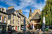 Late summer morning in Dinan, Brittany, Cotes d'Armor, Chateulin District, France, Europe