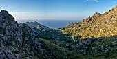 Evening mood on the west coast of Mallorca near Sa Calobra, Balearic Islands, Spain, Europe