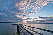 Summer evening at Ammersee, Herrsching, Bavaria, Germany, Europe